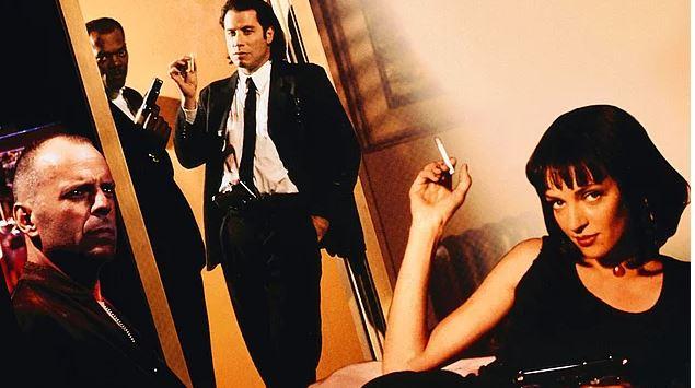 John Travolta, Samuel Jackson, Uma Thurman, Tim Roth, Harvey Keitel, Bruce Willis