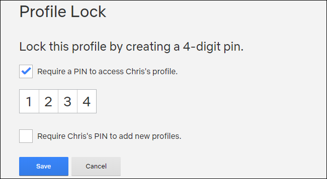 netflix pin ile kilitleme