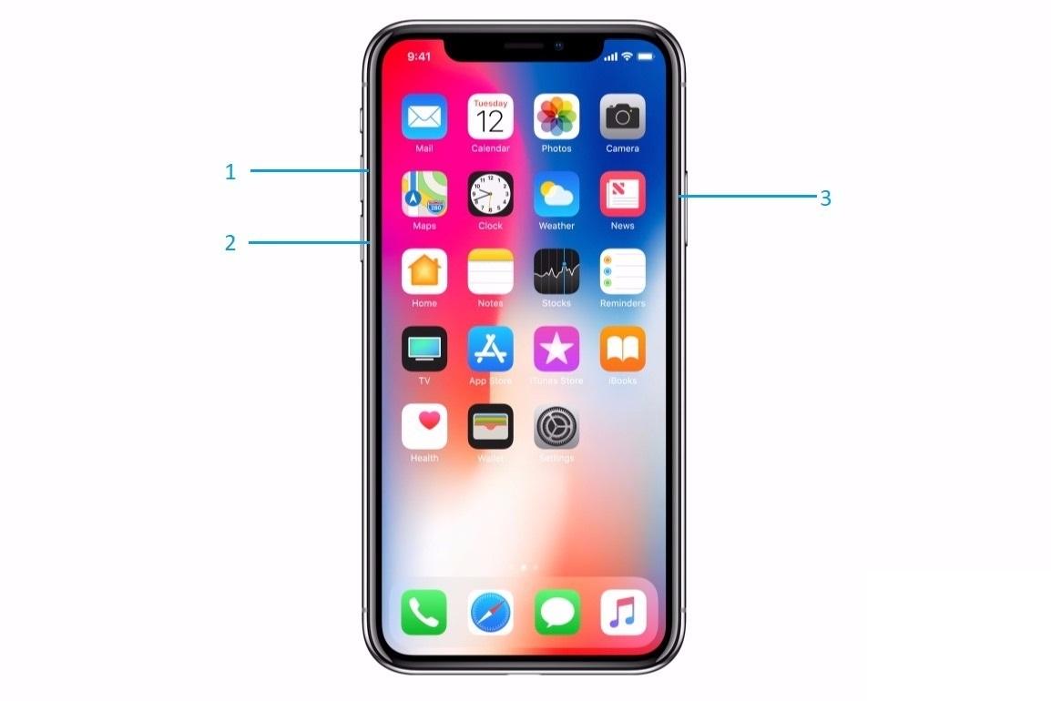 iphone x zorla yeniden başlatma