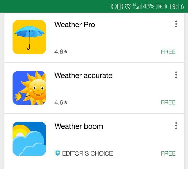 Hava durumu uygulamaları