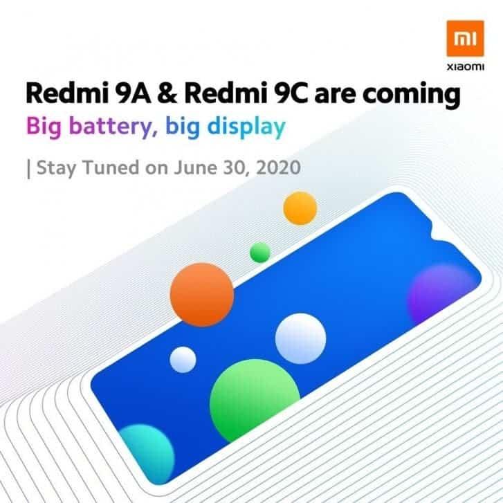 Redmi9A, <a href='/redmi-9c/'>Redmi9C</a> 30 Haziran'da Malezya'da Tanıtılacak!