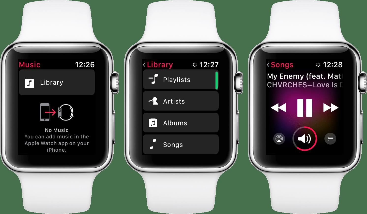 Müzik dinlemek için <a href='/apple-watch/'>Apple Watch</a> nasıl kullanılır