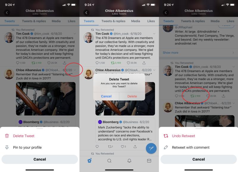 Mobil Cihazdan Tweet Silme