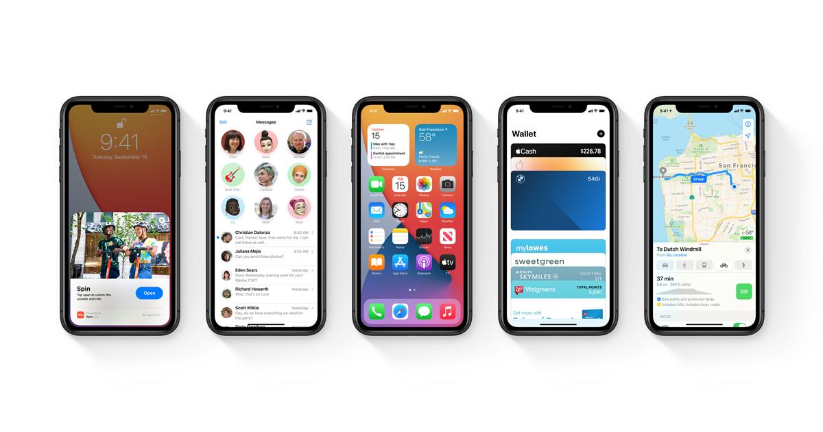Apple, iOS 14 Yazılım İyileştirmeleri Sunuyor.
