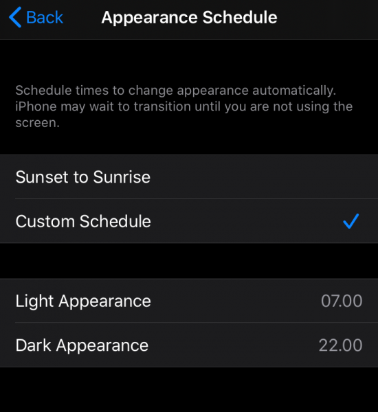 İPhone SE'de Karanlık Modu Planlama