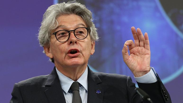 <a href='/avrupa-birligi/'>Avrupa Birliği</a> Teknoloji Temsilcisi Thierry Breton; Tüm Şirketler Aynı Kurallara Uymak Zorunda Kalacak.