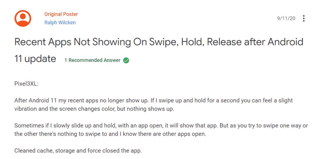 Android 11 Kullanıcıları, Sistemde Bazı Hataların Olduğunu Söyledi