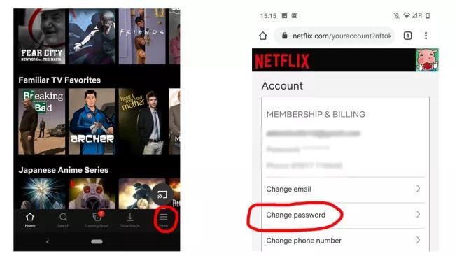 Cep telefonunuzda <a href='/netflix/'>Netflix</a> şifrenizi nasıl değiştirirsiniz?