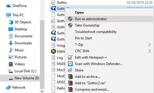 Eski oyunları Windows 10'da çalıştırma
