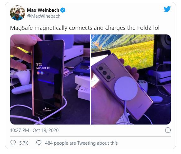 Apple MagSafe Kablosuz Şarj Cihazı, Galaxy Z Fold 2'yi Destekler!