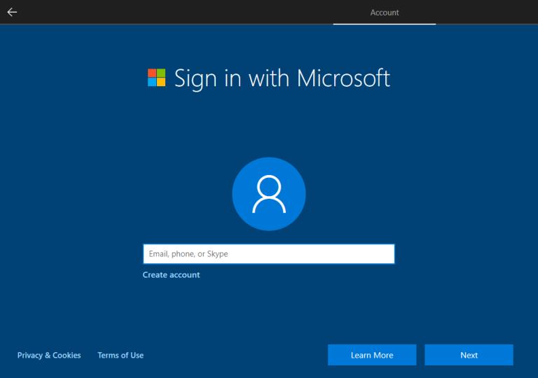 <a href='/windows-10/'>Windows 10</a> yerel hesap