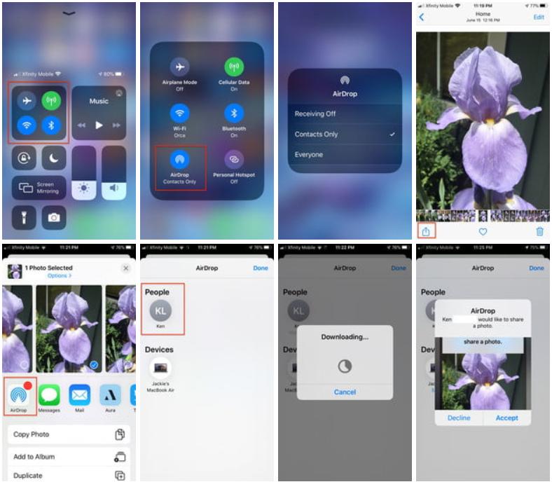 İPhone'unuzdaki fotoğrafları bir arkadaşınızın iPhone'una aktarın