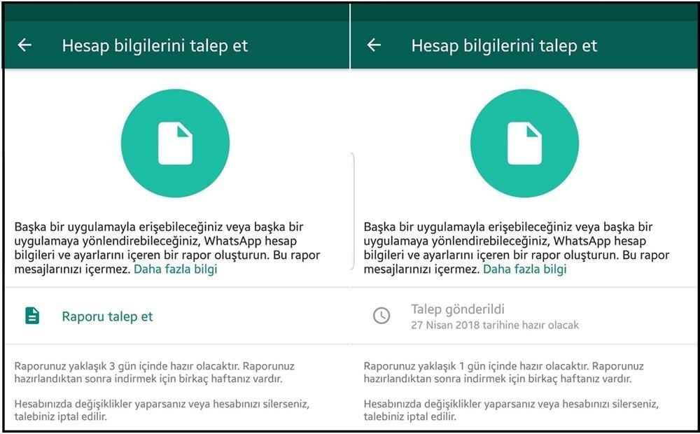 WhatsApp'ta hesap bilgilerine nasıl sahip olabilirsiniz?