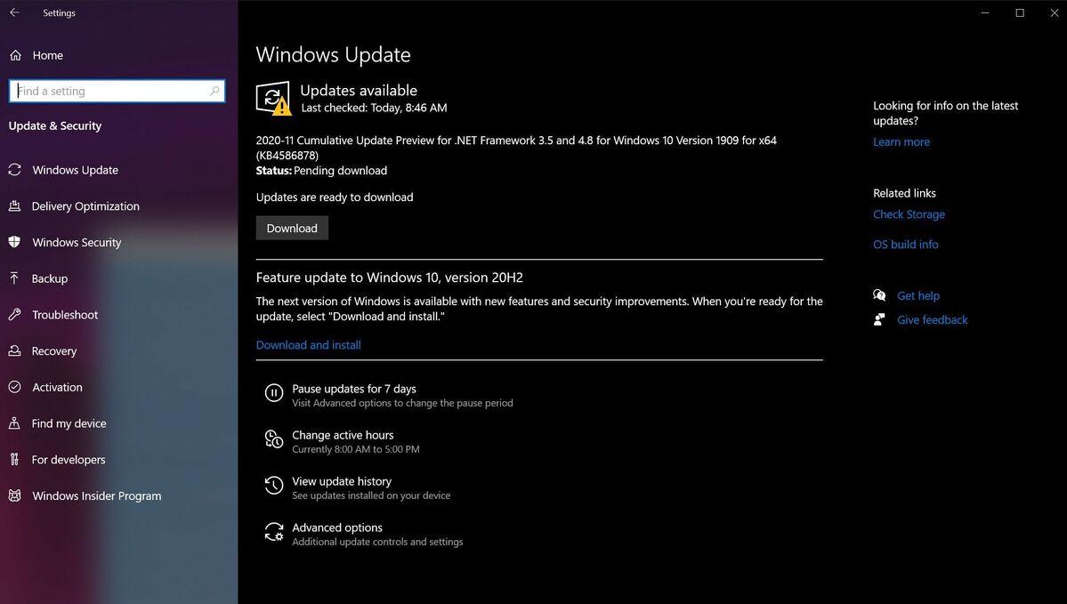 Yeni PC'nizde Windows Update'i çalıştırın