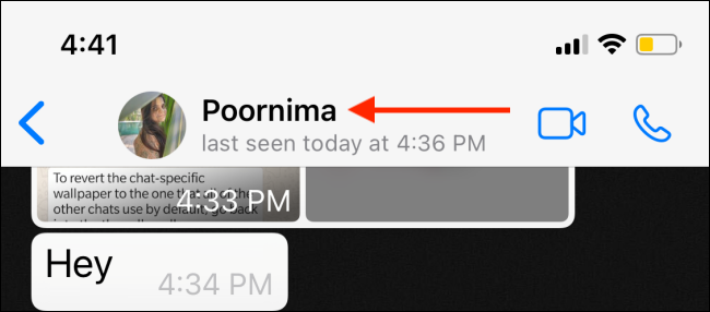 İPhone için WhatsApp'ta Sohbetler için Özel Duvar Kağıdı Ayarlama