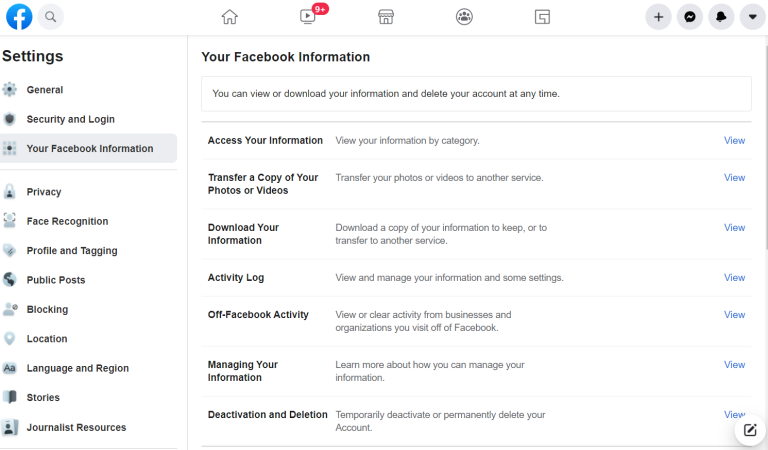 Facebook'u devre dışı bırakma