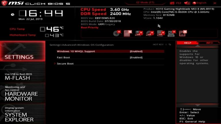 UEFI / BIOS Ayarlarınızı Yapın