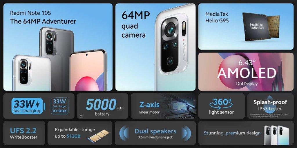 Xiaomi'nin Uzun Zamandır Beklenen Telefonu Redmi Note 10S Tanıtıldı