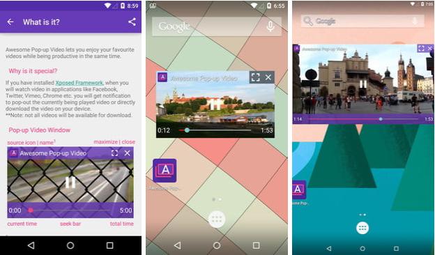 Awesome Pop-up Video (Android) ile videoları oynatma