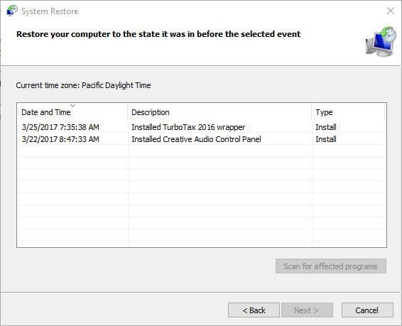 Windows 10 bir sistem geri yükleme noktasından nasıl geri yüklenir?