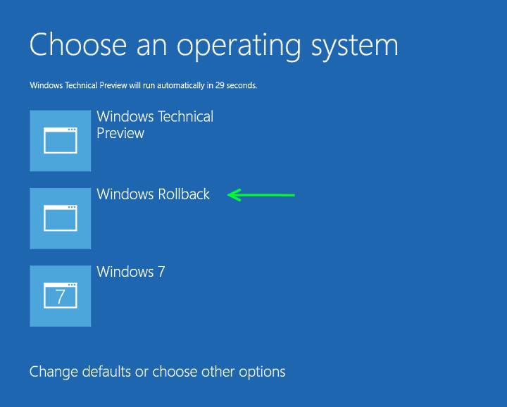 Windows 10 nasıl geri alınır