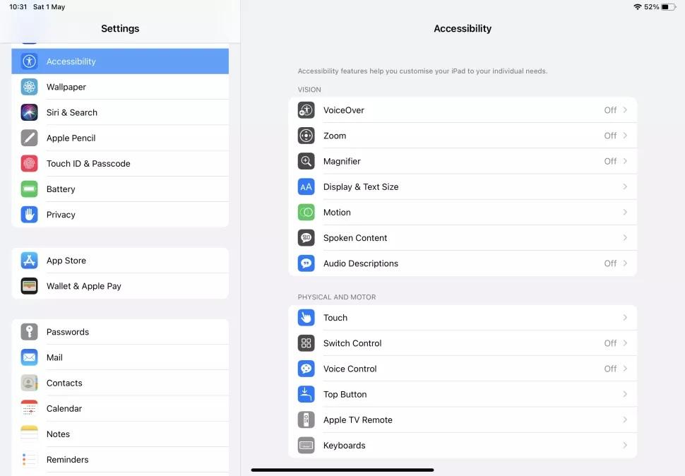 iPad'inizi daha erişilebilir hale getirin
