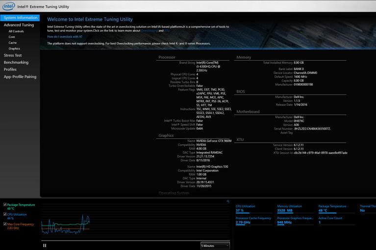 Intel CPU: Extreme Tuning Utility