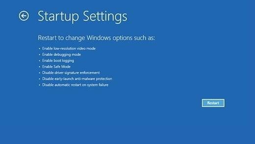 Siyah bir ekrandan veya bozuk Windows 11 PC'den Güvenli Mod'a girin